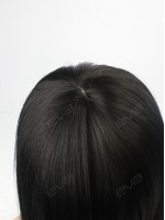 Yaki Long Straight Sleek Synthetic Capless Wig with Full Blunt Bangs