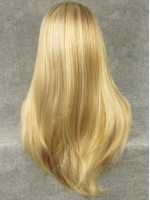 Mixed Color Blonde Long Straight Synthetic Wig