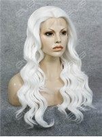 White Water Wave Long Synthetic Lace Front Wig