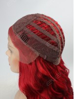 Red Long Wavy Synthetic Lace Front Wig