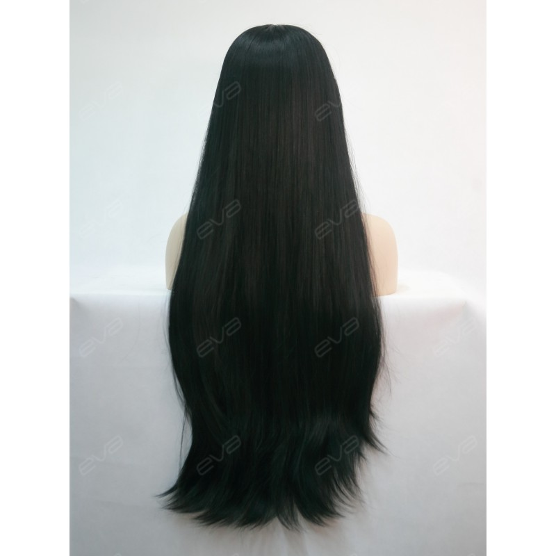 30 Quot Long Kimk Inpired Black Yaki Straight Synthetic Lace