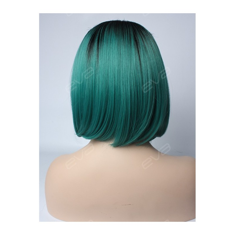 Evahair New Teal Ombre Short Bob Synthetic Wig Synthetic
