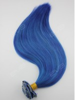 Gorgeous Deep Blue Virgin Human Hair Clip In Hair Extension