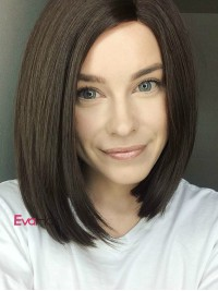 EvaHair Sleek Straight Side Part Bob Synthetic Lace Front Wig