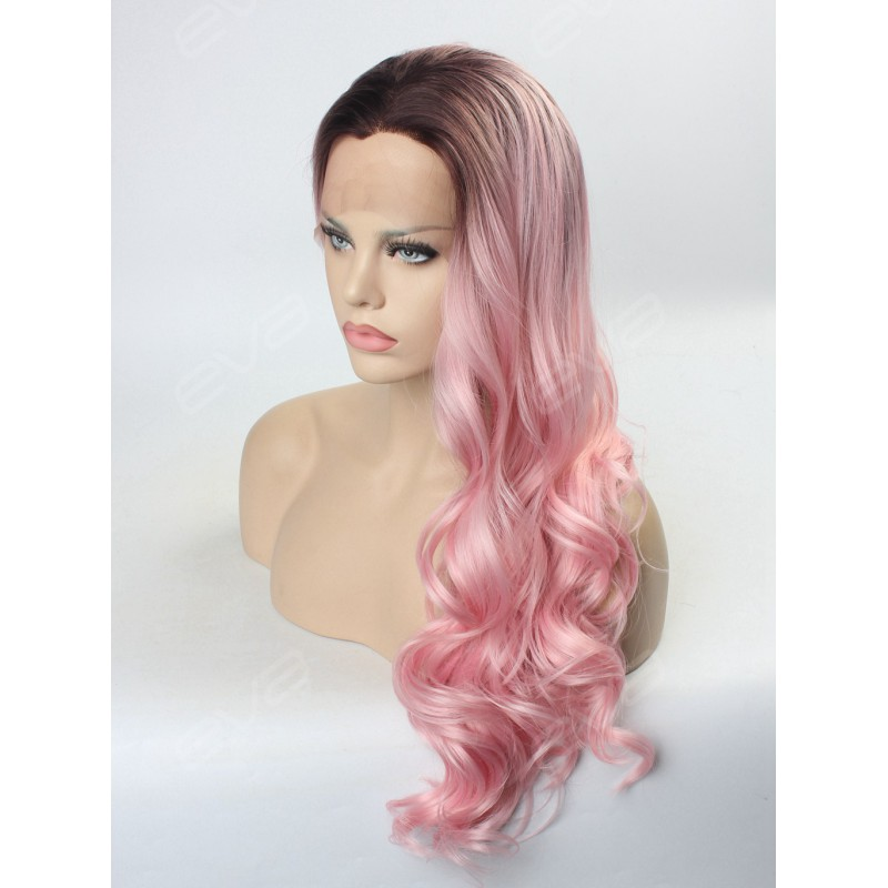 2016 Hot Instagram Color Ombre Pastel Pink Synthetic Lace