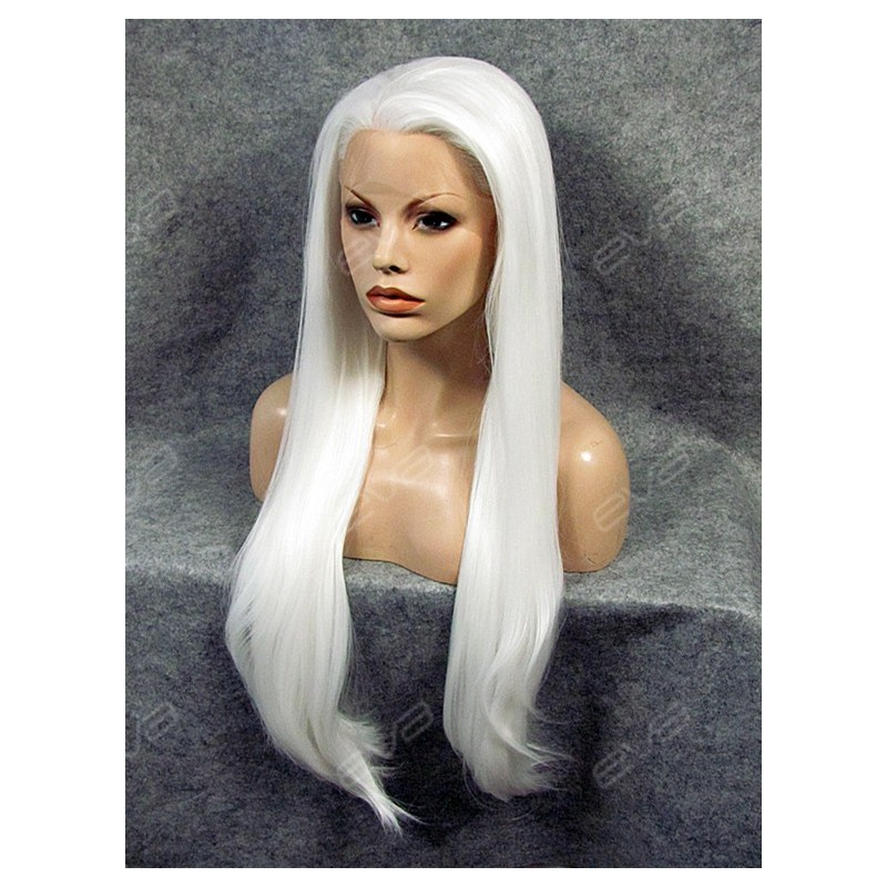 Long Thick White Wig 15