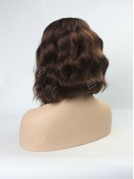 EvaHair Chestnut Graduated Cut Wavy Bob Lace Front Synthetic Wig