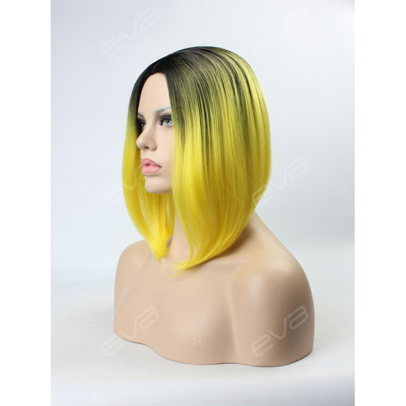 2016 New Trending Color Bright Yellow Ombre Synthetic