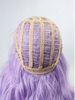 Lilac Ombre Wavy Capless Synthetic Wig