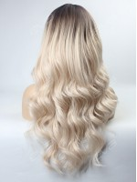 Platinum Blonde Ombre Wavy Capless Synthetic Wig