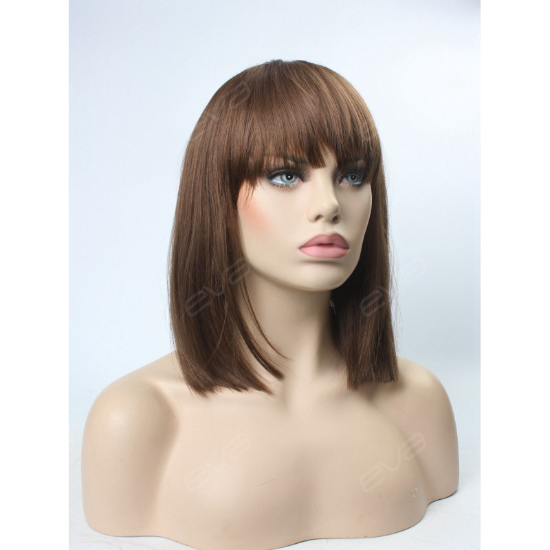 evahair special medium length straight lob with bangs