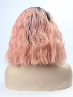 EvaHair Peach Synthetic Lace Front Wig