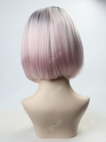 EvaHair Pastel Pink Cute Bob Synthetic Lace Front Wig
