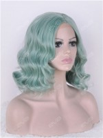 Mermaid Mint Wavy Lob Synthetic Lace Front Wig