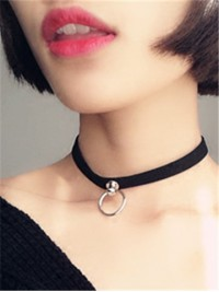 Choker with Metal Ring