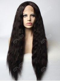 EvaHair Slight WavyClassicial Black Lolita Synthetic Lace Front Wig