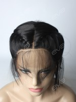 Braided Black Synthetic Lace Front Wig