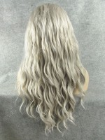Grey Water Wave Long Synthetic Lace Front Wig