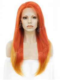 Sunset Long Straight Synthetic Lace Front Wig