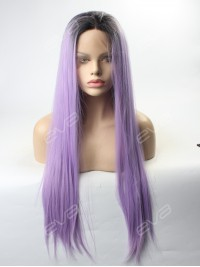 Lavender Ombre Synthetic lace front wig