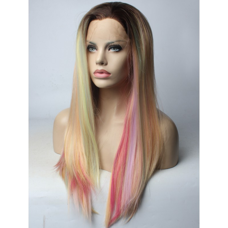 2018 New Unicorn Synthetic Lace Front Wig Synthetic Lace