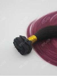 #118 Dark Pink Ombre Color Clip In Virgin Human Hair Extension
