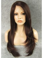 #33 Long Straight With Side Layer Synthetic Lace Front Wig