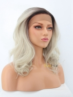Daily Wear Ash Blonde Synthetic Lace Front Wig