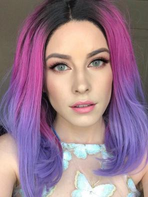 2017 3 Colors Trendy Synthetic Synthetic Lace Front Wig