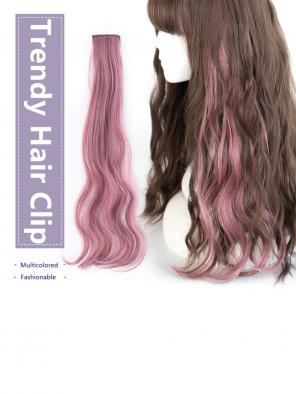 16 Multicolored Hair Clips in Hair Extensions
