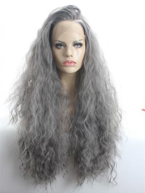 Classic DUSTY GREY LOLITA SYNTHETIC LACE FRONT WIG