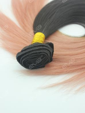 #130 Light Copper Red Ombre Color Clip In Virgin Human Hair Extension