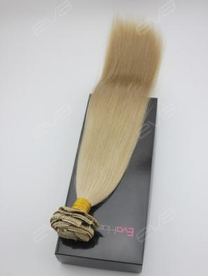 #101 Grayish Blonde Virgin Human Hair Clip In Extension