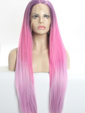 Lavender T pink SYNTHETIC LACE FRONT WIG