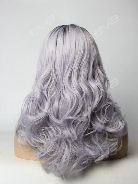 ... Light Lavender Deep Weave Synthetic Lace Front Wig ...