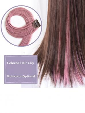 Multicolored Hair Clips in Hair Extensions