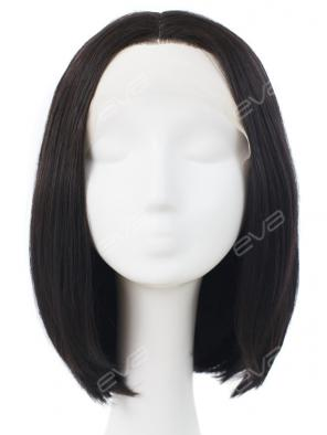 Black and Straight Bob Synthetic Lace Front Wig