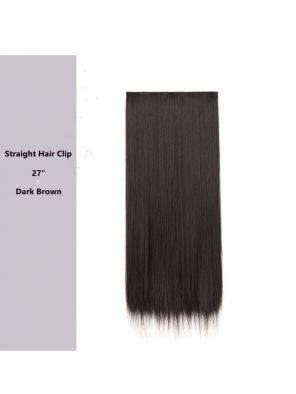 "Evahair 27"" Dark Brown Hair Clip in Hair Extensions"