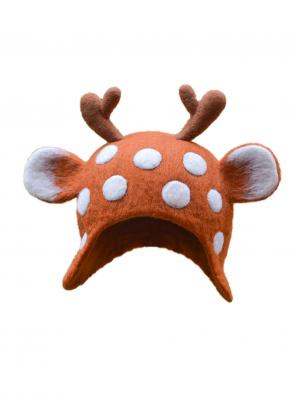Christmas Elk Elf Mori Hat