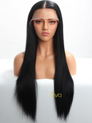 "(Mono Top) Natural Looking Monofilament Top 6"" Deep Parting Lace Front Synthetic Wig"