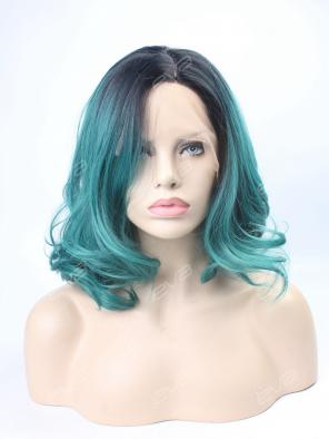 EvaHair New Arrival Teal Wavy Bob Synthetic Wig