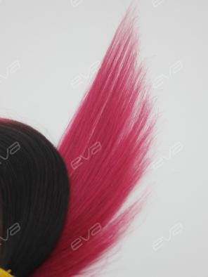 Pink Ombre Color Clip In Virgin Human Hair Extension