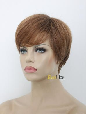 Short Brown Synthetic Wig Pixie Cut