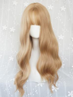 Evahair Lisa Inspired Blonde Long Wavy Synthetic Wig with Bangs