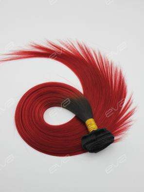 Red Ombre Color Clip In Virgin Human Hair Extension