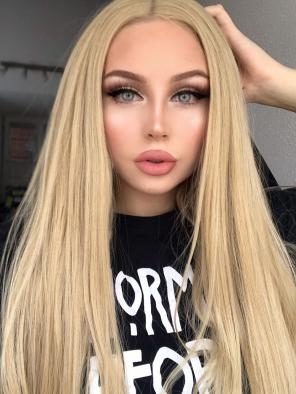 Super Long Hip Length Natural Blonde Synthetic Wigs
