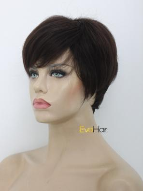 Darkest Brown Short Pixie Cut Synthetic Wig