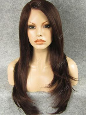 Long Straight With Side Layer Synthetic Lace Front Wig