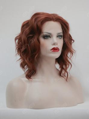 EvaHair Wavy Triangled Cut Bob Lace Front Synthetic Wig