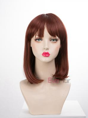 EvaHair Shoulder Length Bob Synthetic Wig with Bangs